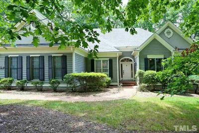 Holly Springs Single Family Home Contingent: 4800 Salem Ridge Road