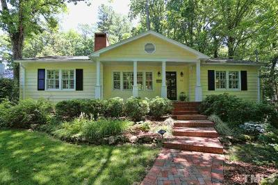 Chapel Hill Single Family Home For Sale: 805 Woodland Avenue