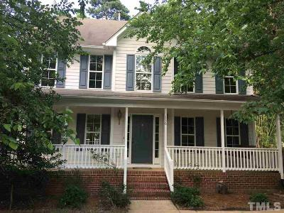 Morrisville Single Family Home Contingent: 136 Black Ridge Street