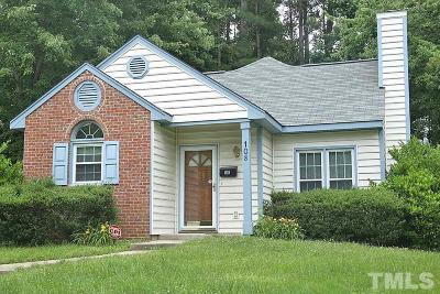 Cary Single Family Home Contingent: 108 Ellsworth Drive
