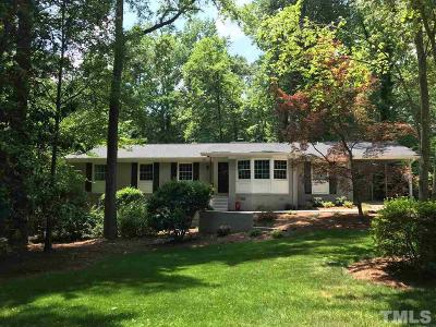 Chapel Hill Single Family Home Contingent: 804 Tinkerbell Road