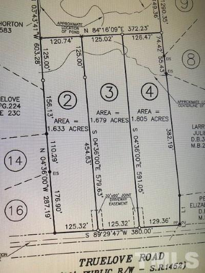 Holly Springs Residential Lots & Land For Sale: Lot 3 Truelove Road