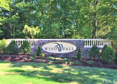 Chatham County Residential Lots & Land For Sale: 525 Windfall Creek Drive