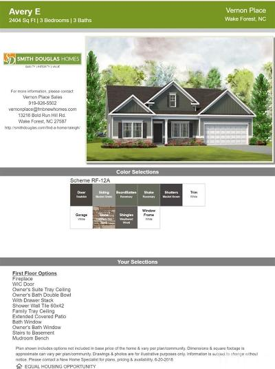 Wake Forest Single Family Home Pending: 2001 Delphi Way