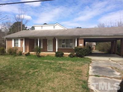 Harnett County Single Family Home For Sale: 3189 Bunnlevel Erwin Road