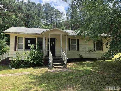Louisburg Single Family Home Pending: 82 Person Road