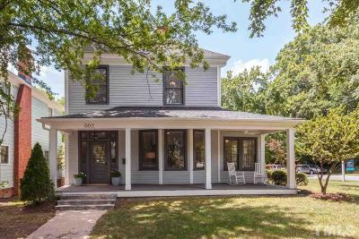 Raleigh Single Family Home For Sale: 602 S Boylan Avenue