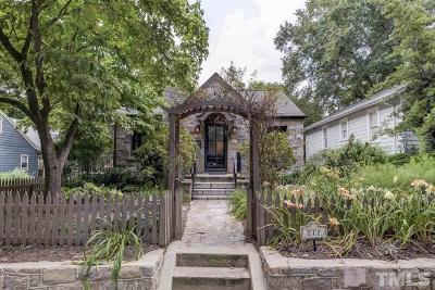 Raleigh Single Family Home For Sale: 212 Hudson Street
