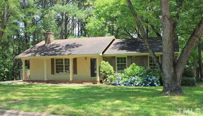 Raleigh Single Family Home For Sale: 6004 Wintergreen Drive