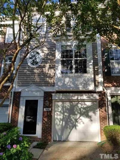 Raleigh Townhouse For Sale: 5446 Echo Ridge Road