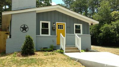 Raleigh Single Family Home For Sale: 833 Coleman Street