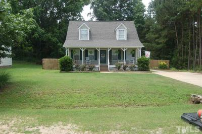 Angier Single Family Home Contingent: 216 Hunters Way
