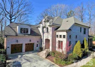 Raleigh NC Single Family Home For Sale: $850,000