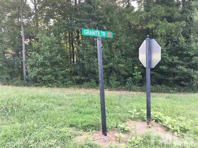 Chapel Hill Residential Lots & Land For Sale: 5B Granite Trail