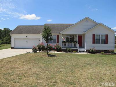 Angier Single Family Home Pending: 3795 N Old Stage Road