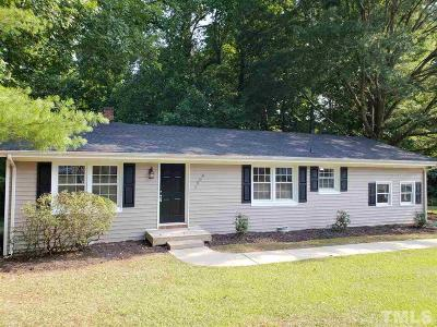 Zebulon Single Family Home Contingent: 1508 Carroll Heights Road