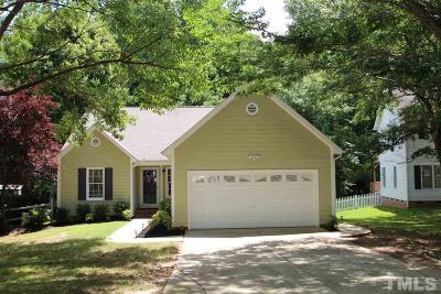 Garner Single Family Home Contingent: 1424 Cane Creek Drive
