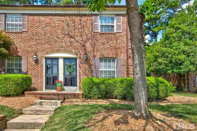 Raleigh Townhouse For Sale: 3725 Jamestown Circle