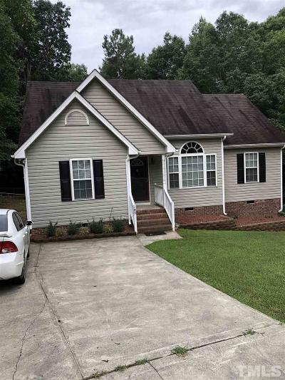 Youngsville NC Single Family Home Contingent: $159,999