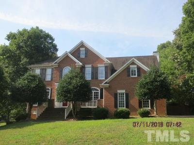 Raleigh Single Family Home For Sale: 1504 Whittington Drive