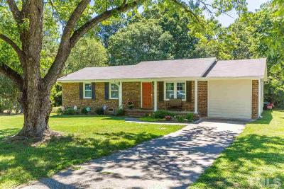 Garner Single Family Home Contingent: 301 Lane Of Sir Kay