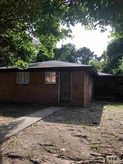 Durham County Single Family Home For Sale: 1408 Wabash Street