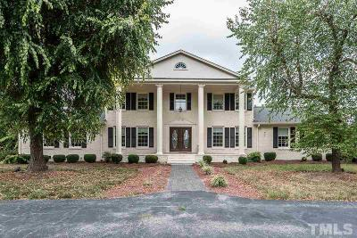 Durham County, Franklin County, Granville County, Guilford County, Johnston County, Lee County, Nash County, Orange County, Wake County Single Family Home For Sale: 7200 Walnut Grove Church Road