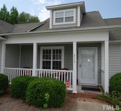 Johnston County Townhouse For Sale: 215 W Moss Creek Drive