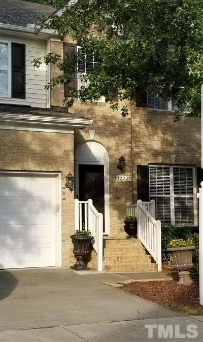 Raleigh Townhouse For Sale: 12222 Fox Valley Street