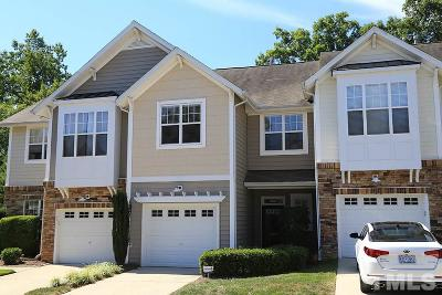 Raleigh Townhouse For Sale: 4963 Lady Of The Lake Drive
