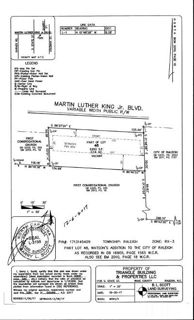 Raleigh Residential Lots & Land For Sale: 1105 S State Street