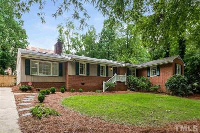 Wake County Single Family Home For Sale: 3712 Dade Street