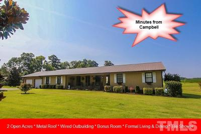 Lillington Single Family Home For Sale: 3011 Brick Mill Road