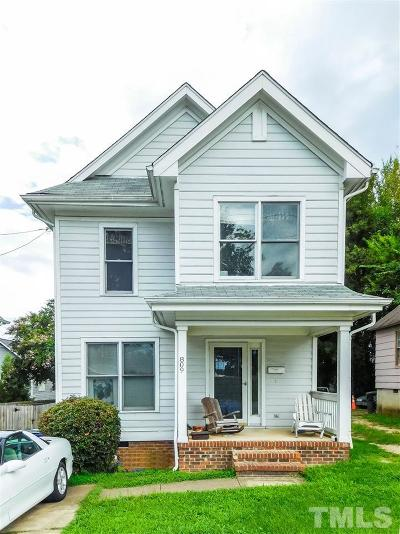 Raleigh Single Family Home For Sale: 809 S Person Street
