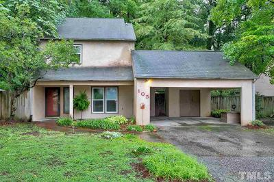 Cary Single Family Home Contingent: 105 Wimbledon Court