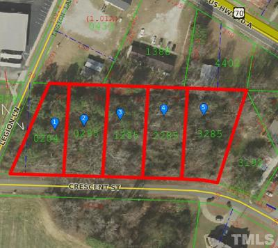 Johnston County Residential Lots & Land For Sale: Lots 10-14 Crescent Street