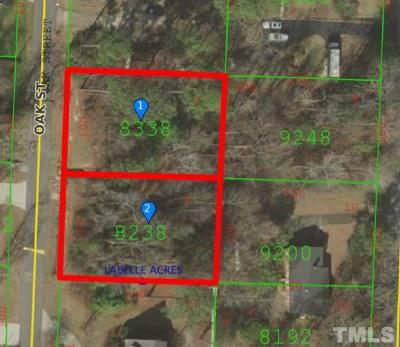 Johnston County Residential Lots & Land For Sale: Lots 7&9 Blck C Oak Street