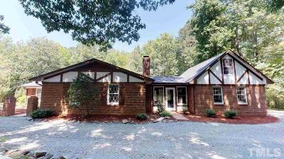 Chapel Hill Single Family Home For Sale: 5811 Morrow Mill Road