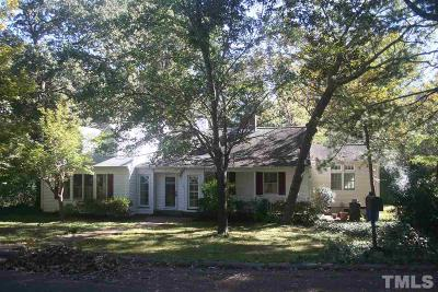 Chapel Hill Single Family Home For Sale: 12 Oakwood Drive