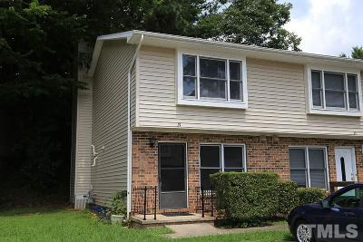 Chapel Hill Townhouse Pending: 875 Martin Luther King Jr Boulevard #21