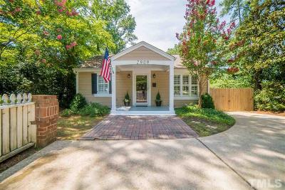 Raleigh Single Family Home Pending: 2909 Oberlin Road