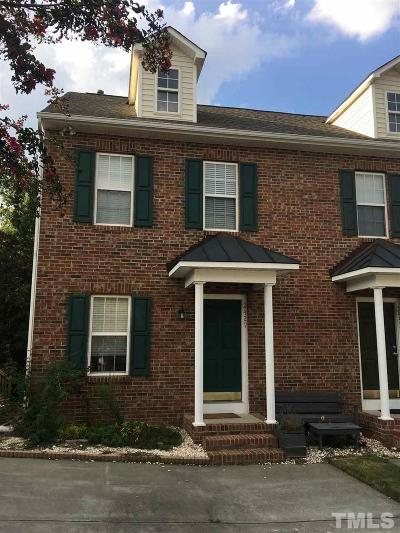 Raleigh Townhouse For Sale: 2429 Bay Harbor Drive