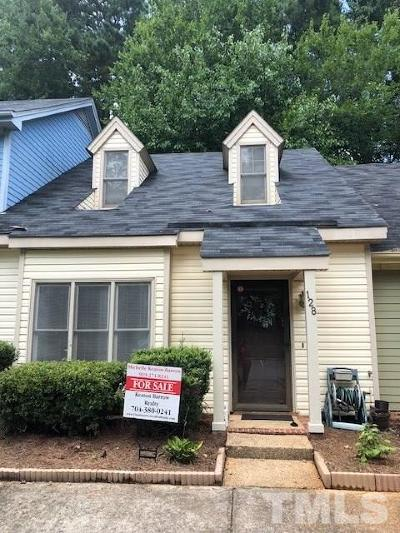 Garner Townhouse For Sale: 128 Carriage House Trail