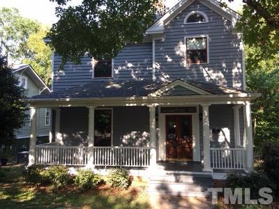 Raleigh Single Family Home For Sale: 604 N Bloodworth Street