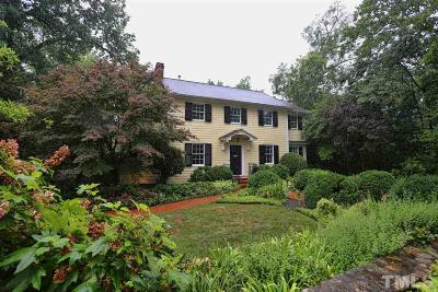 Chapel Hill Single Family Home For Sale: 720 Gimghoul Road