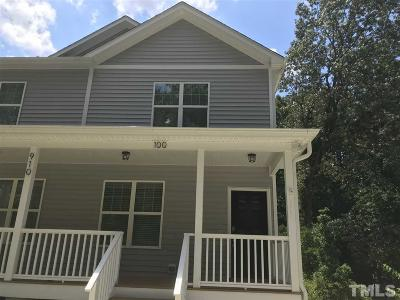 Raleigh Rental For Rent: 910 Chaney Road #100