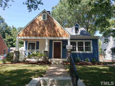 Durham Single Family Home For Sale: 2004 Pershing Street