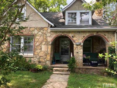 Carrboro Single Family Home Pending: 107 Cobb Street