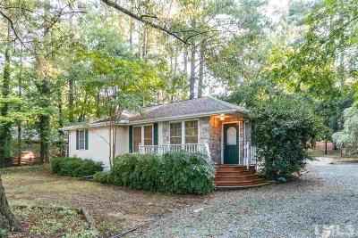 Chapel Hill Single Family Home Contingent: 130 Weaver Dairy Road