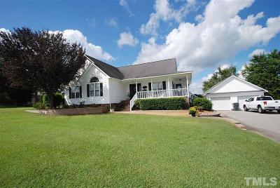 Angier Single Family Home Contingent: 57 Lexington Downs Drive